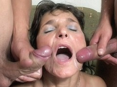 Mama Rewards Two Boys' Hard Work With Hot DP Anal Action!!